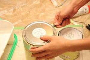 Paint can open.